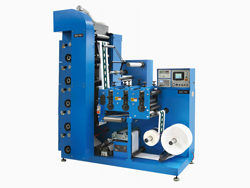 6 Color Flexographic Printing Machine with Three Die Cutting Station, LRY-330/450
